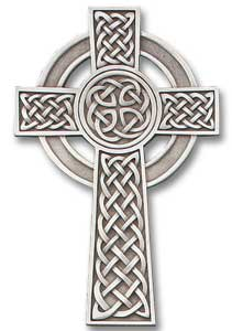 The Celtic cross. The knots on the cross represent the interweaving of heaven and earth.